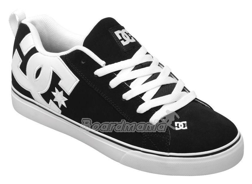 Boty DC Court Vulc black white Snowboard e-shop 4bad1c8795