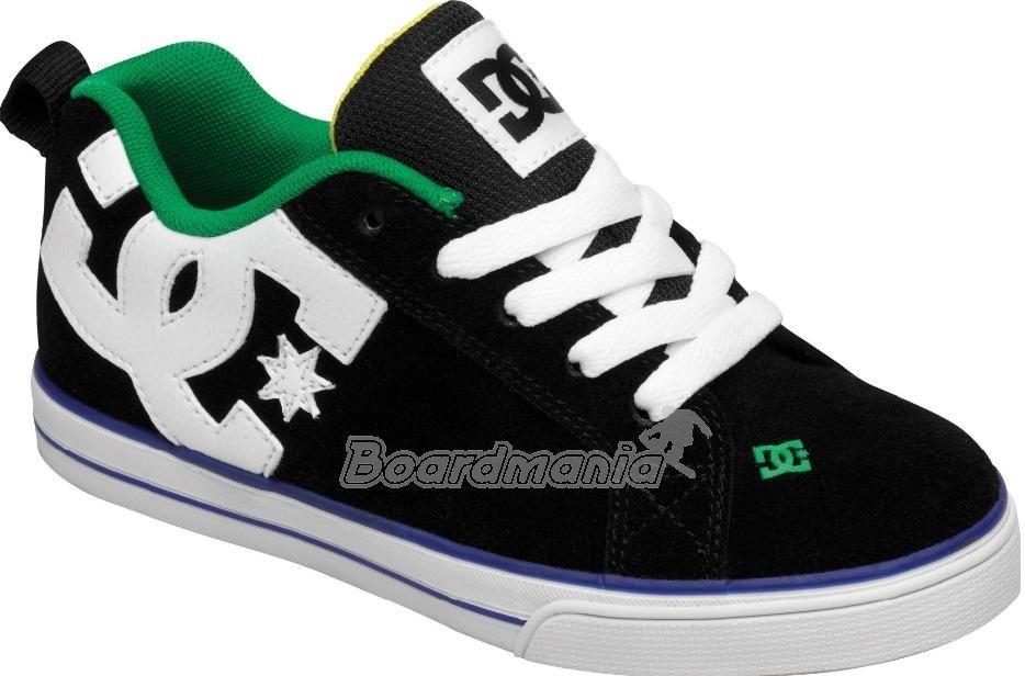 Dětské boty DC Court Graffik Vulc black green Snowboard e-shop 56130e3c64