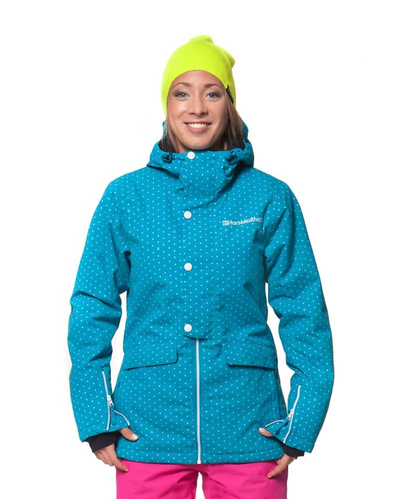 6fea2f82a Dámská bunda Horsefeathers Corine blue dot Snowboard e-shop