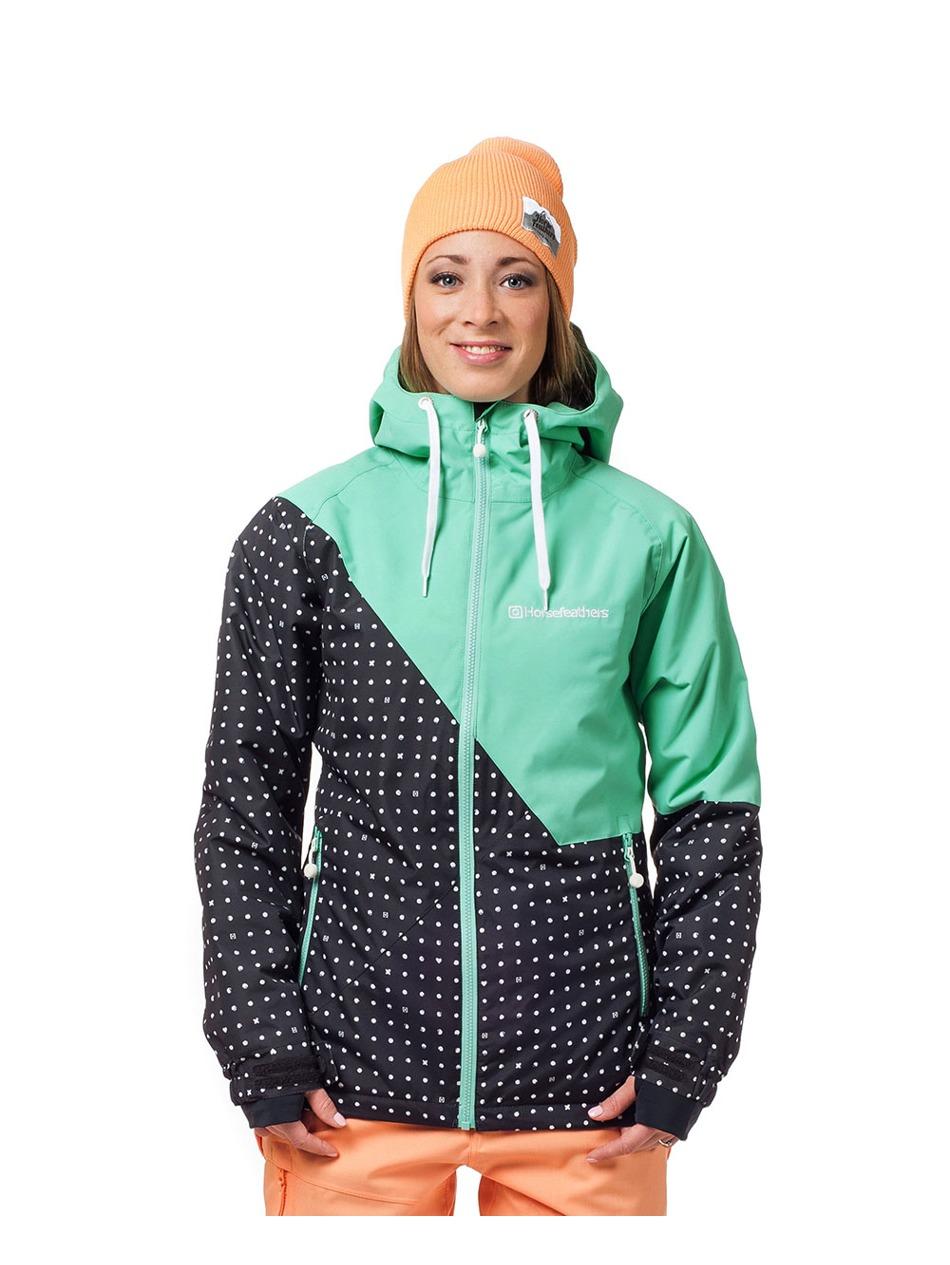 ea7577c2a Dámská bunda Horsefeathers Veronika black dots Snowboard e-shop